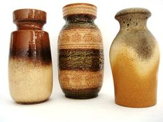 Vintage West German Pottery 3 vases collection by VintageBreda, €38.00