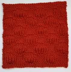 Puff Stitch Square with very good instructions. Nice idea different panels on a blanket
