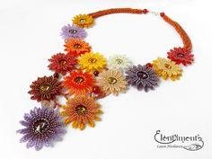 Chrysanthemums necklace | Explore LauranBeads' photos on Fli… | Flickr - Photo Sharing!