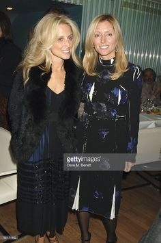 Pia Getty and her sister Princess Marie Chantal of Greece attend the India Hicks hosted dinner to launch her new book 'Island Beauty: Natural Inspiration For Mind, Body And Soul' at the Fifth Floor Bar, Harvey Nichols on November 14, 2005 in London, England. The model daughter of famed interior decorator David Hicks, the Elle Macpherson foreword book focuses on the natural resources which surround Hicks on Harbour Island, in the Bahamas, where she lives with her husband and children.