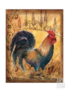 Tuscan Rooster I Giclee Print by Todd Williams at Art.com