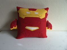 Handmade The Avengers Iron Man Plush Pillow by RbitencourtUSA.deviantart.com on @DeviantArt