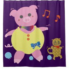 Dancing Fan Shower Curtain