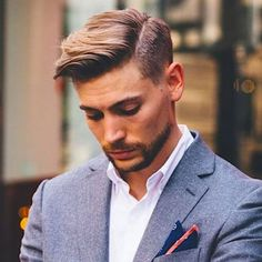 Business Hairstyles - Side Part Comb Over
