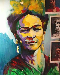 WIP friducha Acrylic on Canvas 130x80cm by Javier Peña - Artespontaneo