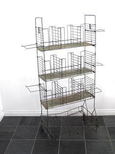 Industrial Shelf Metal Wire Rack Bathroom by SnapshotVintage