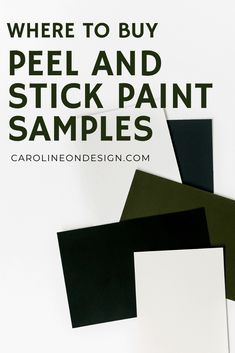 Choosing a paint color is HARD, but peel and stick paint samples are making your choice MUCH easier and cleaner. This is your no-mess, simple way to see how potential paint colors will look in your home. Yes, please to the 'no mess' part! Best Interior Paint, Interior Decorating Tips, Playroom Design, Nursery Design, Exterior Paint Colors, Paint Colors For Home, Diy Home Decor Projects, Decor Ideas, Favorite Paint Colors