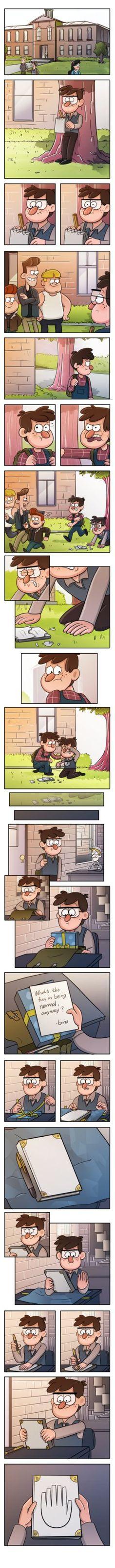 esse comic me mostrou a amizade entre dois irmaos   PS:e tambem uma forma que poderia ter surgido o diario 3 mas como a serie ja acabou entao ne nao podemos fazer nada