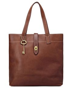 Fossil Handbag, Austin Leather Tote (i think this is the one that's off at the outlet) Fossil Handbags, Fall Handbags, Fossil Bags, Fashion Handbags, Tote Handbags, Leather Handbags, Best Travel Tote, Beautiful Bags, Handbag Accessories