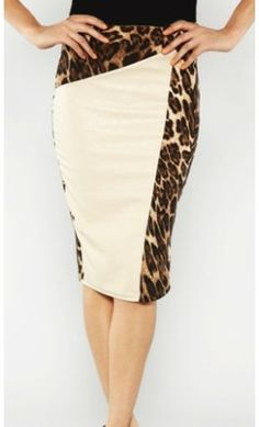 Womens vintage leopard panel printed midi length pencil skirt! - Apostolic Clothing #vintage #modest #skirts