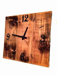 Rustic Reclaimed Barn Wood Clock Large Barn Wood Wall Clock from The Rustic Palette.