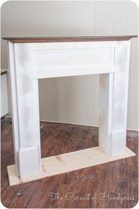DIY for in front of the fire place so we will have a mantle Diy Faux Fireplace -… DIY für vor dem Kamin, damit wir einen Mantel Diy Faux Kamin haben Faux Fireplace Mantels, Faux Mantle, Fireplace Surrounds, Mantles, Fireplaces, Fireplace Outdoor, Limestone Fireplace, Fireplace Decorations, Home Furniture