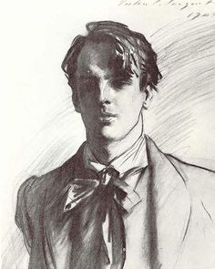 Portrait of William Butler Yeats by John Singer Sargent | Instagram photo by @lonequixote