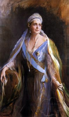 Philip de Laszlo - Queen Marie of Romania, née Princess of Saxe Coburg Gotha and Princess of Great Britain. Giovanni Boldini, Romanian Royal Family, Art Gallery, John Singer Sargent, Art Database, Queen Mary, Royal Jewels, Royal Crowns, Queen Victoria