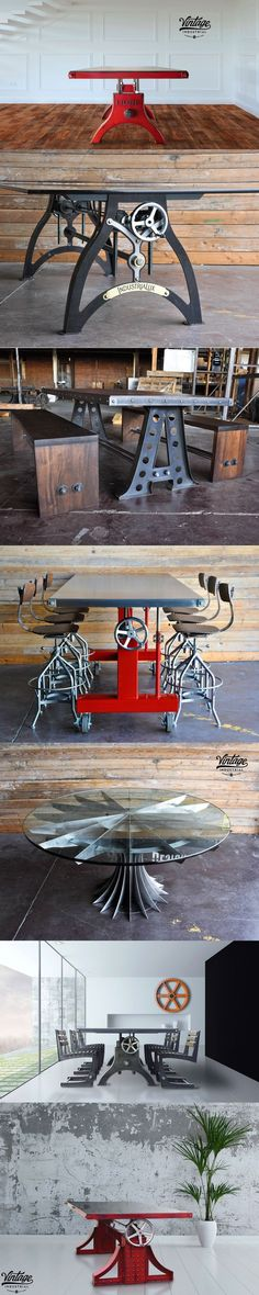 Dining tables designed and built by Vintage Industrial in Phoenix. We build to order and can customize our designs to suit your needs. #luxuryvintage