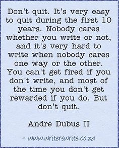WritingQuote – Andre Dubus II