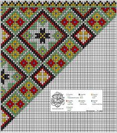 Perlesøm på stramei, bunad. – Vevstua Bull-Sveen Cross Stitch Borders, Cross Stitch Charts, Cross Stitch Patterns, Rug Patterns, Bead Crochet Rope, Beaded Crochet, Embroidery, Beads, Crafts