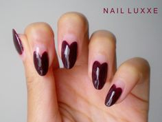 I Heart Nail Art Beautiful Heart Nail Art - Care - Skin care , beauty ideas and skin care tips Blue Ombre Nails, Burgundy Nails, Red Nails, Hair And Nails, Heart Nail Art, Heart Nails, Almond Nail Art, Almond Nails, Cute Nail Designs