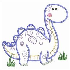 Sweet Heirloom Embroidery Design: Vintage Baby Dinosaur inches H x inches W Diy Embroidery Kit, Simple Embroidery, Machine Embroidery Applique, Custom Embroidery, Embroidery Patterns, Machine Applique Designs, Vintage Elephant, Baby Dinosaurs, Felt Baby
