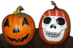 black painted pumpkin faces - Google Search
