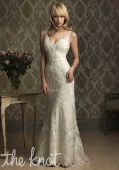 Check out this #weddingdress: 8856 by Allure Bridals via iPhone #TheKnotLB from #TheKnot