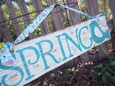 spring cottage sign - Google Search
