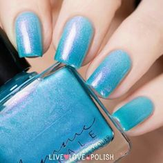 Nails Glitter Turquoise Light Blue Ideas For 2019 Glitter Manicure, Manicure And Pedicure, Sparkle Nails, Fancy Nails, Pretty Nails, Watermelon Nails, Super Nails, Nail Polish Colors, Blue Nails