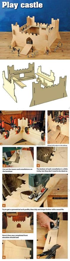 Play Castle Plans - Children's Wooden Toy Plans and Projects | WoodArchivist.com #woodentoy