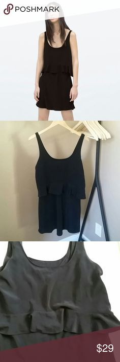 """Zara Trafaluc Black Tiered Dress Zara trafaluc black tiered dress. This dress is very flattering. Size US Small. Runs true to size and would fit size 2-4 the best. 17.5"""" flat and shoulder to hem is 32"""". In good pre-loved condition. Zara Dresses"""