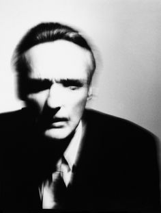 Victor Skrebneski - Dennis Hopper, 1990- the  blurry aspect of this photo and his expression is what i enjoy the most. I love the sense of emotion Victor catches in his portraits