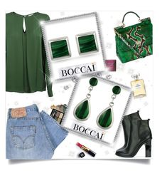"""BOCCAI Earrings 7/10 I"" by fashionaddict-il ❤ liked on Polyvore featuring Tory Burch, Hoola, MICHAEL Michael Kors, Chanel, Gucci, Levi's and Dolce&Gabbana"