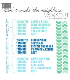 Don't Wake The Neighbors do anywhere equipment free workout! Don't Wake The Neighbors do anywhere equipment free workout! Don't Wake The Neighbors do anywhere equipment free workout! Quiet Workout, Free Workout, Workout Women, Kids Workout, Apartment Workout, The Neighbor, Low Impact Workout, Fitness Tips, Fitness Workouts