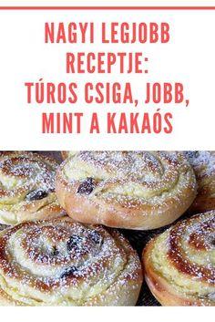 Hungarian Recipes, Food Humor, Winter Food, Sweet Bread, Cakes And More, Bread Baking, Diy Food, No Bake Cake, Soul Food