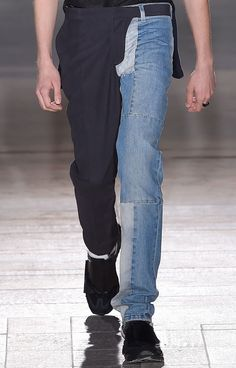 The usual directional designs from Maison Martin Margiela S/S 15 as seen through this half trouser, half denim pieced pant