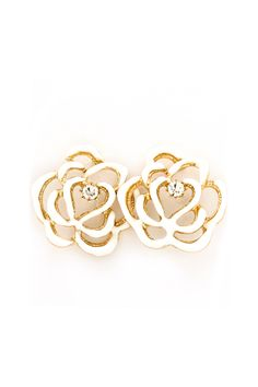 White Rose Earrings | Awesome Selection of Chic Fashion Jewelry | Emma Stine Limited