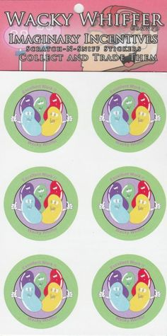Wacky Whiffer Scratch and Sniff Stickers Jelly Bean Scented Stickers SII076E3 #WackyWhiffer #ScratchSniff