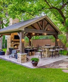Ultimate Deck And Patio Area Retreat For Easy Living – Outdoor Patio Decor Backyard Pavilion, Backyard Gazebo, Small Backyard Patio, Backyard Patio Designs, Backyard Landscaping, Patio Ideas, Backyard Ideas, Gazebo Ideas, Diy Patio