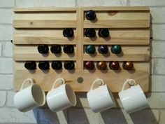 Reclaimed Wood Nespresso Holder / Rack in Home, Furniture & DIY | eBay
