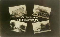 These postcards are rare!   This is from the tourist mecca of Tylersport.  The cigar factory still stands on a Ridge Road.  The 2 hotels were on opposite corners of Allentown and Ridge Roads.  The other photo is of Allentown Road looking north.
