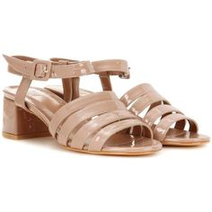 Maryam Nassir Zadeh Palma Patent Leather Sandals (33,280 INR) ❤ liked on Polyvore featuring shoes, sandals, neutrals, maryam nassir zadeh, pink sandals, patent sandals, pink patent shoes and pink patent leather shoes