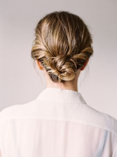 Check out three simple ways to wear this short hairstyle. Starting with pretty beach waves as your base (and perfect for a night out) you can fashion your long bob into a half-up bun or an elegant chignon.