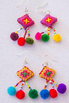 Hmong Crosstitch Earring /Accessories/ Ethnic/ por CHEZMOIMYHOME