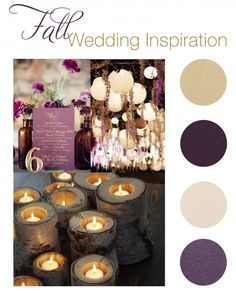 Purple and Gold Wedding