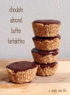 chocolate almond butter tartelettes via A Simply Raw Life