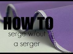 Serge w/out a Serger | Cheap but Chic