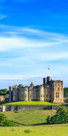 Alnwick castle, Northumberland, England See this impressive castle that was the inspiration for the Hogwarts of the Harry Potters movie.