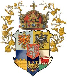 Arms of the Lands of the Bohemian Crown (also known as the Lands of the Crown of Saint Wenceslas or Czech Crown lands) shared to us by Jan Erik Tesař I Kingdom Of Bohemia, Medieval, Family Shield, Kids Book Club, Early Modern Period, Heart Of Europe, Family Crest, My Heritage, Coat Of Arms