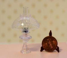Miniature Chrysnbon Oil Lamp with Hobnail Shade | eBay