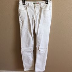 White Denim Jeans Small imperfection pictured | worn 2x Paris Blues Jeans Skinny