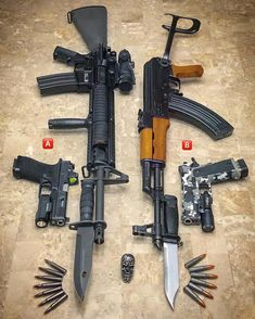 ARs with the Bayonet Weapons Guns, Airsoft Guns, Guns And Ammo, Survival Weapons, Kalashnikov Rifle, Revolver Rifle, 1911 Pistol, Ar Rifle, Fire Powers